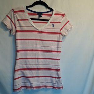 US Polo Assn striped t-shirt size L